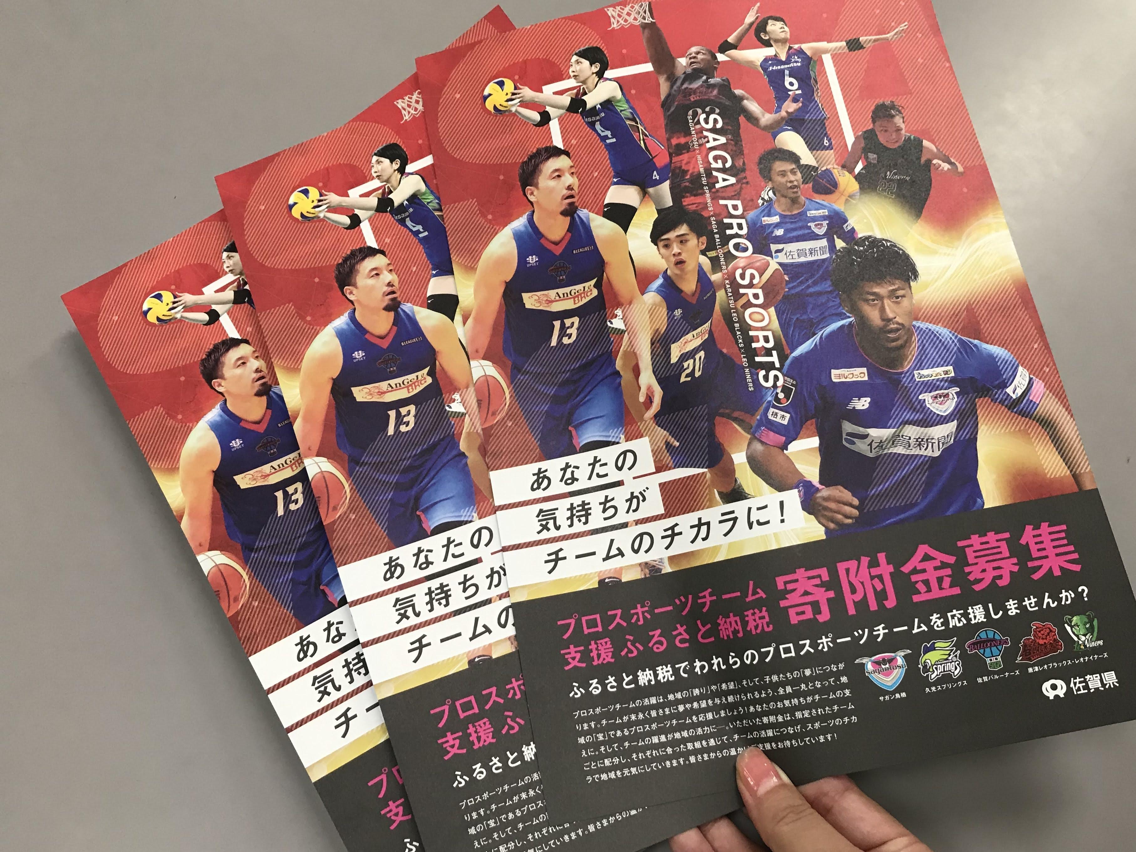 ふるさと納税で佐賀のプロスポーツチームを応援しよう!