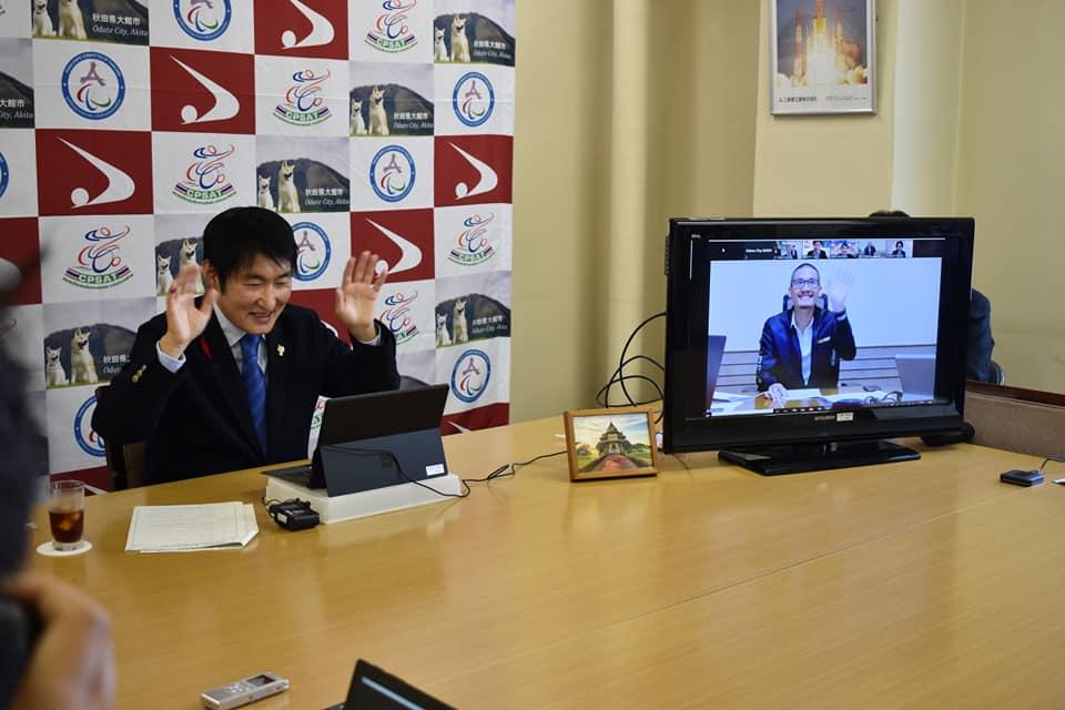 タイ王国脳性まひスポーツ協会との来年のパラリンピックに向けたオンライン会議開催