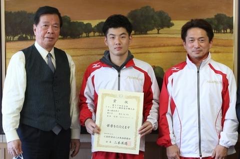 永田信弥選手がトランポリン全国大会で好成績